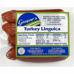* Gaspar's Turkey Linguica Franks 1 lb.