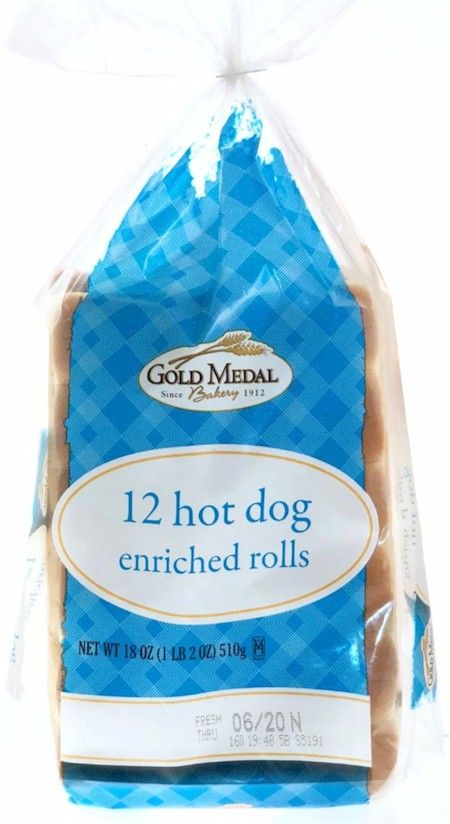 Gold Medal Split Top Hot Dog Rolls Sliced 18 Oz New England Style