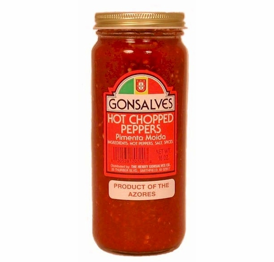 Gonsalves Hot Chopped Peppers 16 oz.