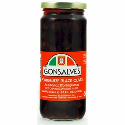 Gonsalves Portuguese Black Olives 10 oz.