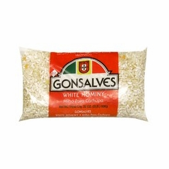 * Gonsalves White Hominy 32 oz.