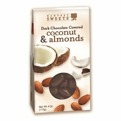 Harvest Sweets Dark Chocolate Covered Coconut & Almonds 4 oz.