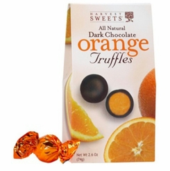 Harvest Sweets Dark Chocolate Orange Truffles 2.6 oz.