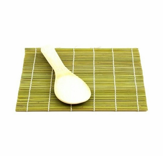 Helen's Asian Kitchen Bamboo Sushi Mat with Paddle