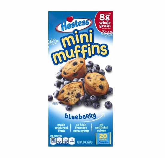 * Hostess Mini Muffins Blueberry (2 Boxes)