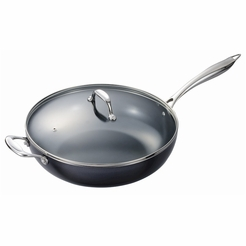 "* Kyocera 12.5"" Nonstick Ceramic Coated Wok with Lid"