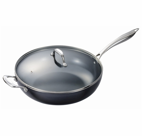 """Kyocera 12.5"""" Nonstick Ceramic Coated Wok with Lid"""