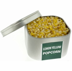 * Lemon Yellow Heirloom Popcorn in Tin 8 oz. (Organic Non GMO Gluten Free)