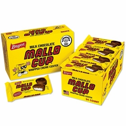 * Mallo Cups - Boyer Box of 24/1.6 oz. Candy Bars