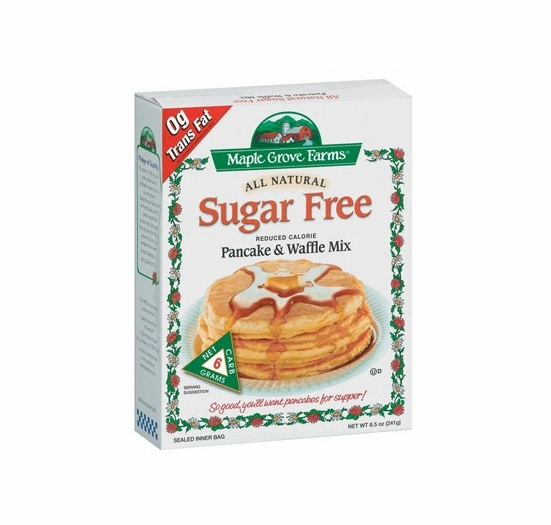* Maple Grove Farms All Natural Sugar Free Pancake & Waffle Mix 8.5 oz.