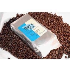 Ming's Blue Ginger Decaffeinated House Blend Whole Bean Coffee 16 oz.