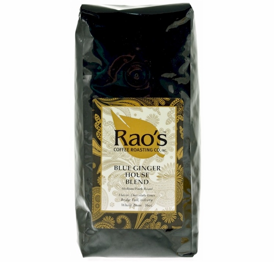 Ming's Blue Ginger House Blend Whole Bean Coffee 16 oz.
