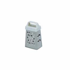 Mini Garlic Grater, Stainless With Plastic Handle