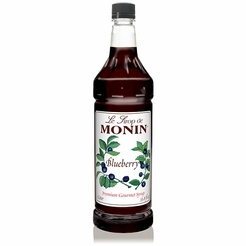 Monin Blueberry Premium Gourmet Syrup 33.8 oz.