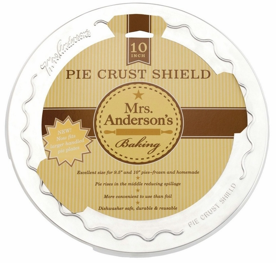 Mrs. Anderson's Baking Original Pie Crust Shield, 10-inch