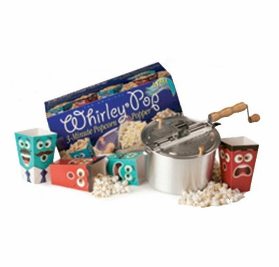 Original Whirley Pop Popcorn Popper with 4 Free Popcorn Tubs
