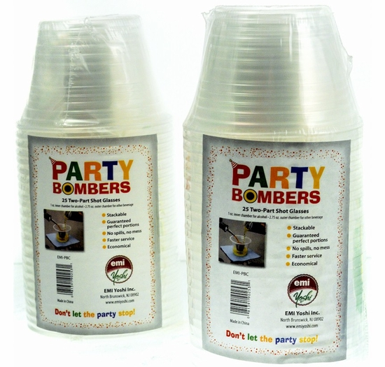 Party Bombers Two-Part Shot Glasses 25 ct. (2 Pack)