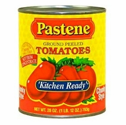 Pastene Kitchen Ready Ground Peeled Tomatoes 28 oz.