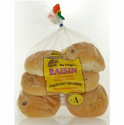 * Raisin Portuguese Sweetbread Rolls 13 oz. (6 per Package)