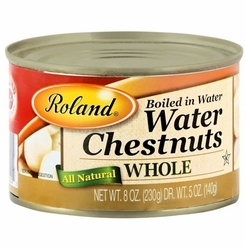 Roland Water Chestnuts Whole 8 oz. (2 Cans)