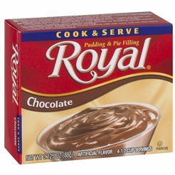 Royal Cook & Serve Chocolate Pudding & Pie Filling (4 Boxes)