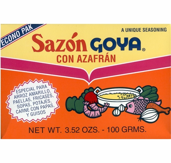 Sazon Goya con Azafran Seasoning 3.52 oz.