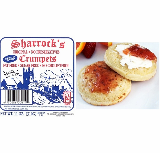 * Sharrock's Original English Style Crumpets (6 Packages)