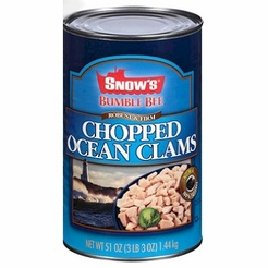 Snow's Bumble Bee Chopped Ocean Clams 51 oz.