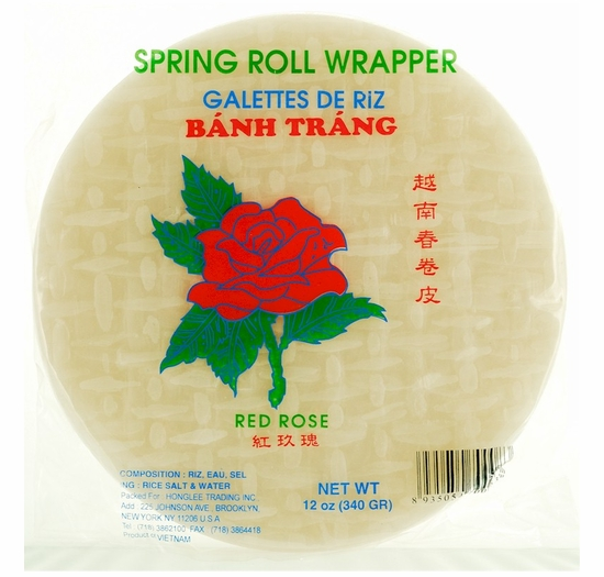 * Spring Roll Wrappers 12 oz.