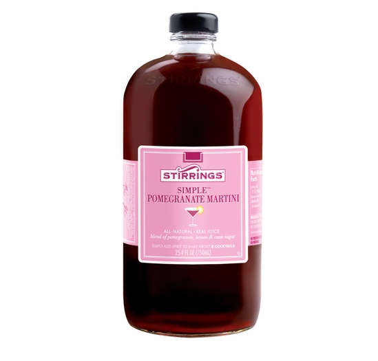 Stirrings Pomegranate Martini Cocktail Mixer - 750ml