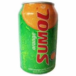 Sumol Orange Case of 24/12 oz. Cans