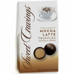 Sweet Cravings Mocha Latte Dark Chocolate Truffles 2.6 oz.