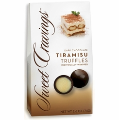 Sweet Cravings Tiramisu Dark Chocolate Truffles 2.6 oz.