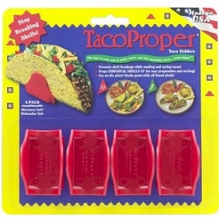 TacoProper Taco Holders, Red (Set of 4)