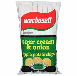 Wachusett Sour Cream & Onion Ripple Potato Chips 5 oz. (12-ct Case)