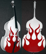 RB-2 Painted Upright Bass - One Color Flames