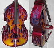 RB-4 Upright Bass Flames and Heavy Pinstriping