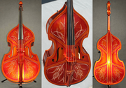 RB-5 Upright Bass With Painted Artwork