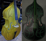 RB-7 Upright Bass Flat Colors - No Clear Coat, Can Upgrade To Pinstriping