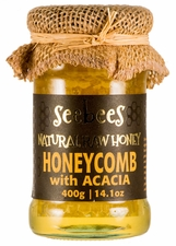 SEEBEES Acacia Honey with Honeycomb