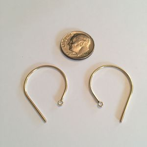 14k Gold Filled Fancy Earwires, Round, 29mm, 1 pair, nbr26