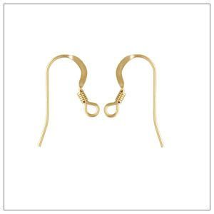 14k Gold-Filled French Hook Earwires with coil 10 pieces