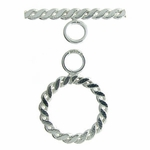 Sterling Silver Flat Braided #17 Toggle, discontinued style, wholesale pricing