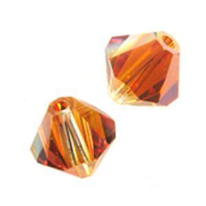 48 Swarovski 5328 4mm  bicone / xilion Crystal Chili Pepper (48pk)
