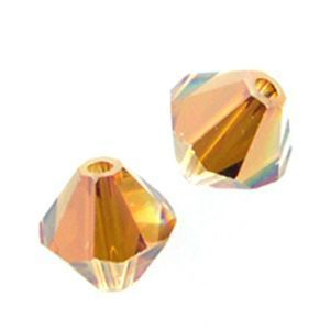 48 Swarovski 5328 4mm  bicone / xilion Crystal Copper (48)
