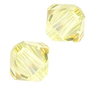 48 Swarovski 5328 4mm  bicone / xilion Crystal Lemon (48pk)