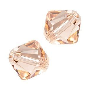 48 Swarovski 5301 4mm bicone / xilion  Light Peach (48)
