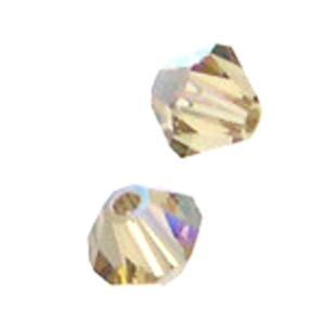 48 Swarovski 5328 4mm bicone / xilion  Light Colorado Topaz AB (48pk)