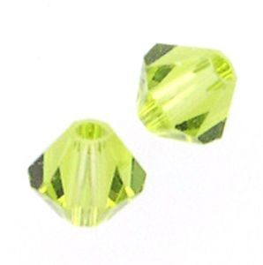 48 Swarovski 5328 4mm bicone / xilion Light Olivine