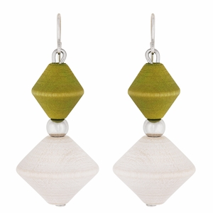 aarikka Avatar Lime / Ivory Earrings